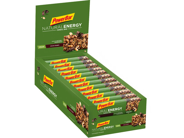 PowerBar Natural Energy Cereal Bar Caja 24x40g, Cacao-Crunch